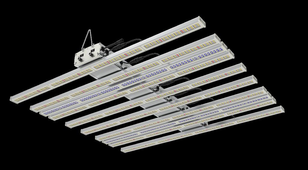 LED grow light WAVE UV+FR series with 10 light bars 1 ultraviolet light and 1 far-red light spectrum