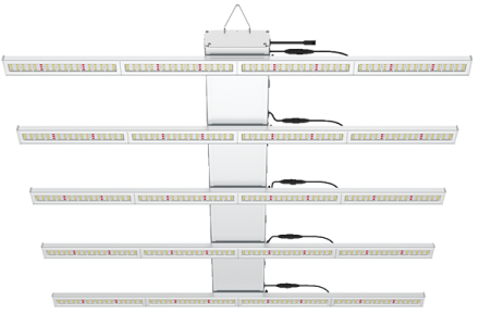 LED grow light WAVE series 5 bars 120cm 47 inch 400W